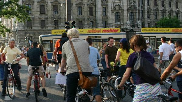Ciclistas em Stachus - Munique - Alemanha