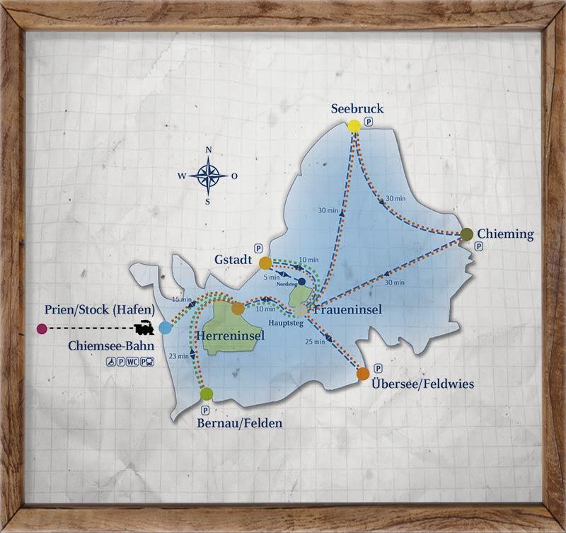 Chiemsee-Mapa-Baviera