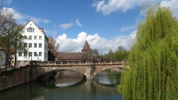 Pontes em Nuremberg, rio Danubio