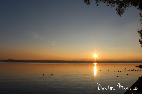 Ammersee-Por-do-sol-Munique