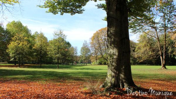Englischer Garten, Outono em Munique, Alemanha
