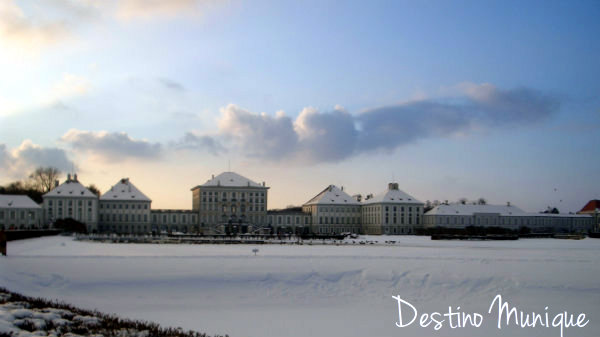 Nymphenburg-Munique-Alemanha-Neve