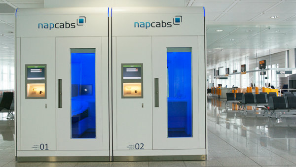 Napcabs, aeroporto de Munique, Alemanha, Sleepbox