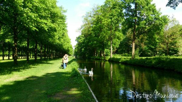 Castelo-Schleissheim-Jardim
