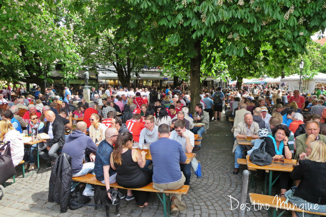 Visite-Munique-Biergarten