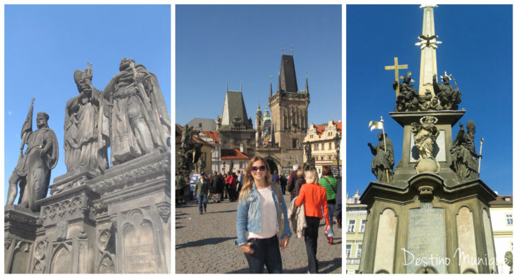 Praga-Ponte-Estatuas