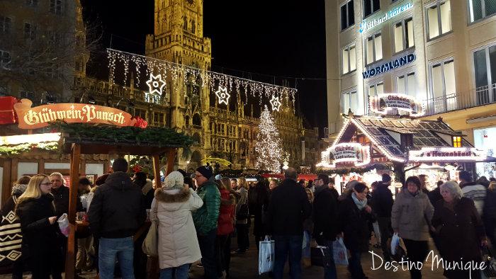 Weihnachtsmarkt-Munique-Marienplatz