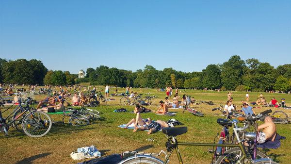 Verão em Munique, Alemanha, Englischer Garten