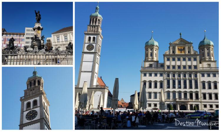 Augsburgo-Rathausplatz-Perlachturm