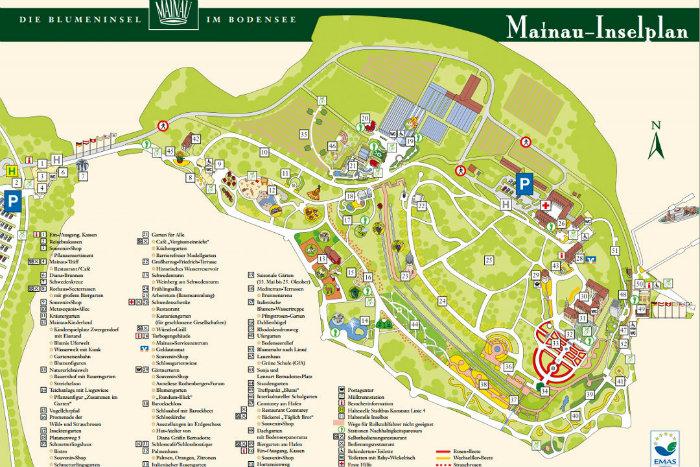 Ilha-Mainau-Mapa