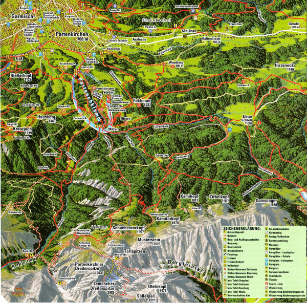 Partnachklamm-Garmisch-Mapa